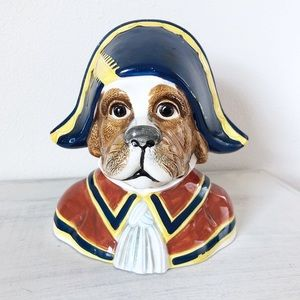 VTG  Dog in Colonial Hat Coin Piggy Bank